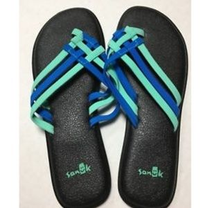 2918a0d6d Sanuk Shoes - Sanuk Yoga Salty Opal Indigo Bunting Sandals New